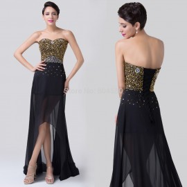 Grace Karin   Sexy Short Front Long Back Chiffon Prom Dress Evening Formal Party Gown Ball Women Celebrity dresses CL6254