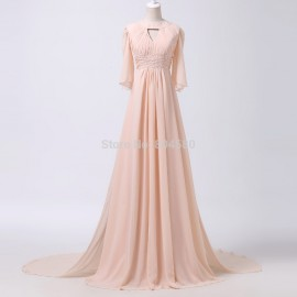 Grace Karin A Line Half Regular Sleeve Dance Ball Prom dress Long Party dresses Pink Formal Evening Gown CL6271