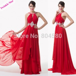 Grace Karin Elegant Red Carpet Floor Length Formal Occasion Evening dress Beads Homecoming Dance Party dresses CL6184