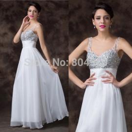 Grace Karin Floor Length Sweetheart Backless Beads Evening dress Formal Party dresses Long Beach prom Gown Women CL6261