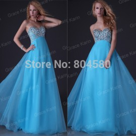 Grace Karin Organza Black Pink Blue Purple Long Birthday Party Prom Gown Bridesmaid dresses  CL3107