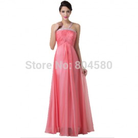 Grace Karin Sexy Hater Design Long Beading Party Dresses Formal Prom Evening dress Floor Length A Line Celebrity Gown CL6199