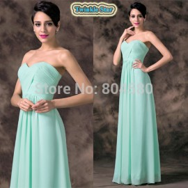 Grace Karin Strapless Sweetheart Fashion Women Summer Sexy Party Dress Chiffon Long Evening dresses Formal Prom Gown CL6214