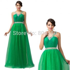High Quality Fashion Design Halter Women Summer Open back Evening dresses Elegant Green Formal Prom Gown Sexy party dress CL6143