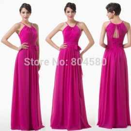 Hot Grace Karin A Line Casual Women Summer Dress Backless Special Evening Prom dresses For Party Long Beach Gown CL6206
