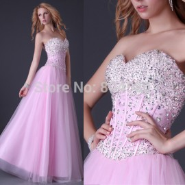 Hot Selling Grace Karin Sexy Stock Strapless Party Gown Prom Ball Formal Evening Dress  CL3519