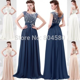 Hot selling Grace Karin fashion Chiffon Full Length Celebrity Party  Evening Prom Dresses  8 Size US 2~16 CL4473