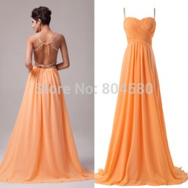 In Stock Grace karin Chiffon Backless Evening dress Formal party gown Long prom Dresses CL6025