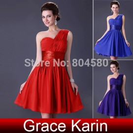 Latest Design Grace Karin One Shoulder Chiffon Prom Short dress Party Evening Dresses  CL4106