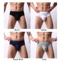 Mens Sexy Tight-fitting Breathable Briefs Side Opening Solid Collour Underwear