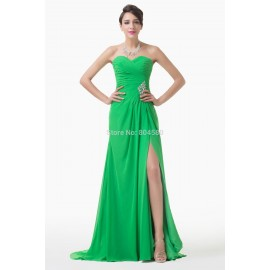 European Fashion Floor Length Split Front Runway Gown Long Celebrity dresses Formal Evening party dress CL6233