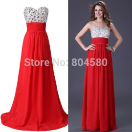 Long design Floor-Length Beads Chiffon Formal Prom Long Evening Dress Backless Women party Gown CL3424