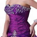 Royal  fashion and Elegant Beading Purple Party Gown Long Wedding Dress Bridal Dress or Ball Gown CL2515