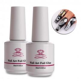 Makartt Nail Art Foil Glue Gel for Foil Stickers Nail Transfer Tips Manicure Art DIY 15ML  UV LED Lamp Required Soak Off