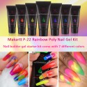 Makartt P-22 Poly Nail Extension Gel Kit Rainbow Color Nail Builder Gel Nail Thickening Solution Nail Equipment