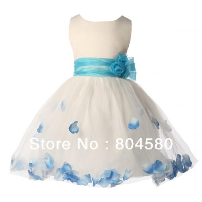 Hot Sale   Sleeveless Flower Girl Dress for Wedding Party Dress CL4607