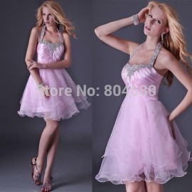 Hot Sale Sexy Knee Length Pink Homecoming Ball Gown Formal Party dresses Short Cocktail dress Women Special Occasion CL3521