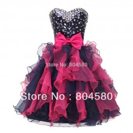 Colorful Short Stock Off the shoulder Organza Sequins Sexy Cocktail Party Gown Short Mini Prom Dresses Graduation CL4976
