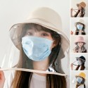 Dust-proof Fisherman Hat Anti-fog Anti-saliva Protective Cap With Clear Cover Saliva Prevents Most Odors