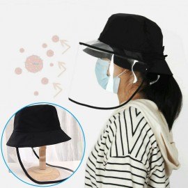 Face Protective Cover Clear Cover Dust-Proof Anti Saliva  Hat  Unisex Waterproof And Dustproof, High-Quality Cotton Material