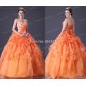 Free Shipping Grace Karin Strapless Orange Bridal Wedding dress 2015 Sleeveless Formal Gown 2518