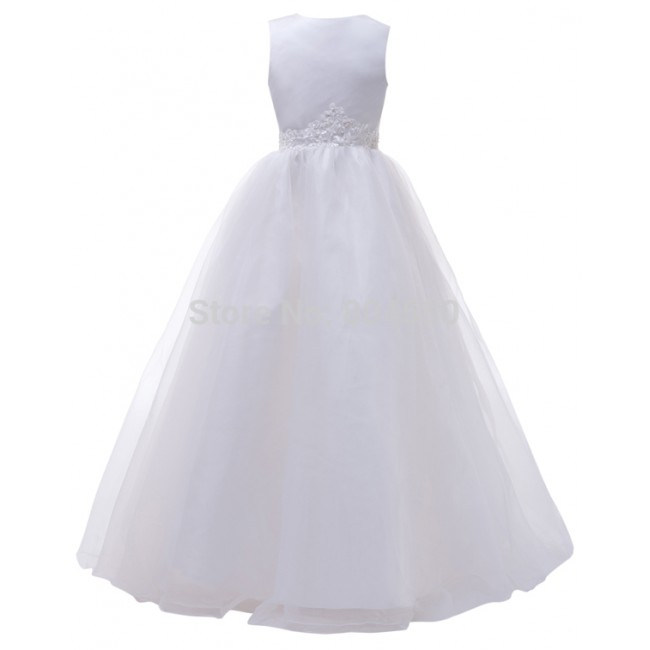 Free shipping Flower girl dresses for weddings Elegant Pageant Party Ball Gown Birthday first communion dresses for girls CL4491