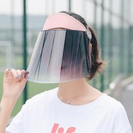 Full Face&Head Shield Sun Visor Solar Reflective UV Protection Hat Cap Outdoor Unisex Women Men Sun Hat Face Protection Cover