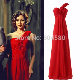 Grace Karin   Floor Length Wedding Events Slim Formal Party Gown Long Prom dresses Women Bridesmaid dress Red CL3402