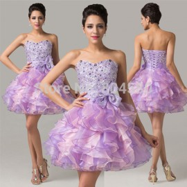 High Quality Strapless Women Formal Party Homecoming Ball Gown Banquet Prom Short Dress Special Occasion Cocktail dresses CL6167