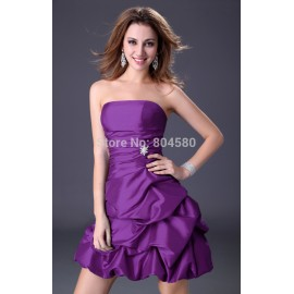 [Hot selling ] 4 colors purple blue women's short evening party dresses prom gown cheap in stock summer runway dress CL4098