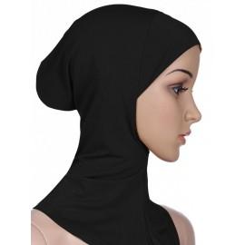 Islamic Women's Headband Plain Hijab Head Kerchief With Neck Headscarf Coverchief Ethnic Style Ladies