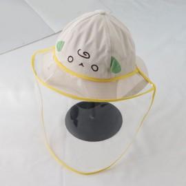 Kids Dustproof Cartoon Protective Hat Face Shield Anti Saliva Detachable Cap Baby Summer Outdoor Bucket Hat Lovely Beach Cap Hat