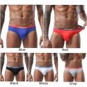 Men briefs Sexy Low Waist Elastic underwear Double-layer U Convex underpants male Large Bulge Pouch Briefs