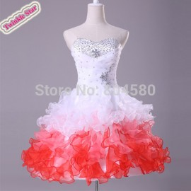 design Organza Colorful Short Homecoming Dresses Prom Gowns Cocktail Party Dress CL4977
