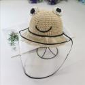 Outdoor Kids Protective Cap Sun Protection Anti Saliva Face Shield Frog Hats Fashion Casual Bucket Hats Unisex Boy Girl