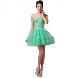Vestido Madrinha Cheap Mini Length Wedding Party Dresses Mint Green Black Purple Bridesmaid Dress Formal Prom Ball Gown 6077
