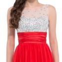 Vestido de Casamento Longo Tank Red Pink Blue Party Wedding Dress Chiffon Princess Bridesmaid Dresses Long Lace Up Back 6130