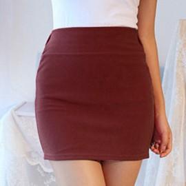 Women Ladies Mini Skirt Slim Stretch Tight Pencil Skirt A-Line Short Dress