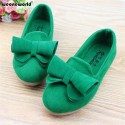 WEONEWORLD 2018 Casual Candy Color Children Girls Shoes Princess Shoes Fashion Spring Summer Girls Flats Kids Shoes with Bowtie