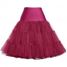 GK Colorful Women's Retro skirt Silps swing Rockabilly Vintage Crinoline fluffy Petticoat Underskirt Empire Voile Skirt